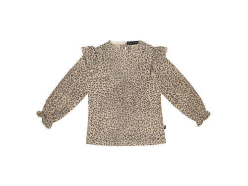 Frill Tunic - Charcoal Little Leopard